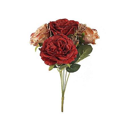 Buquê de Rosa Cabbage - Vermelho