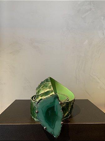 Cinto liso de Fivela com pedra