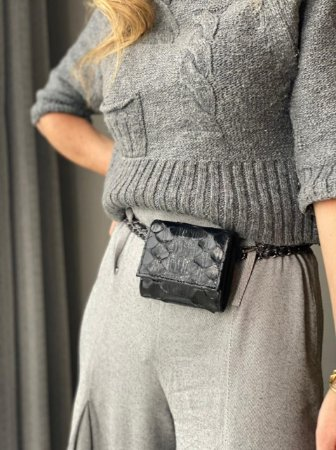 Mini Bag Daniela em Python Black