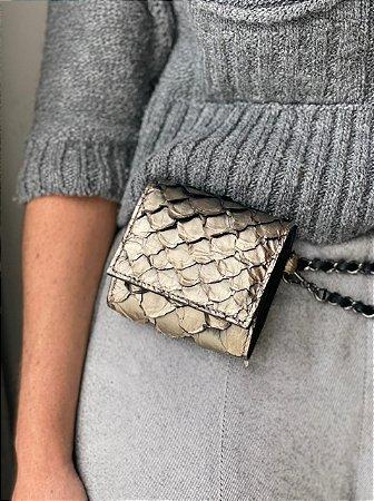 Mini Bag Daniela em Pirarucu Metalizado