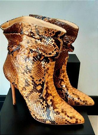 Bota em Python Artesanal Camel