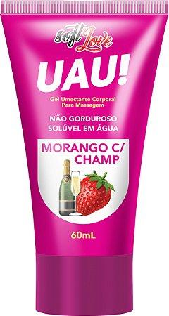 Lubrificante Uau - Morango com Champ