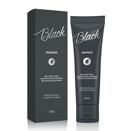 Gel Lubrificante Beijável Black Mentol Extra Forte - 60g