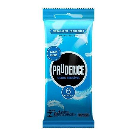 Preservativo Ultra Sensível Com 6 Unidades Prudence