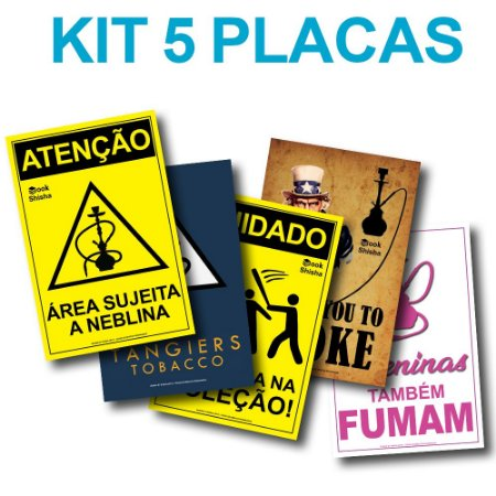 KIT COM 5 PLACAS DECORATIVAS