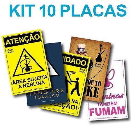 KIT COM 10 PLACAS DECORATIVAS