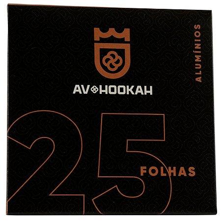 PAPEL ALUMINIO 25 FOLHAS  - AV HOOKAH