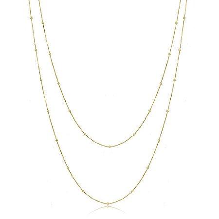 Colar Duplo Body Chain Dourado