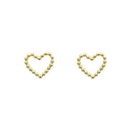 Brinco Coração Babi Dourado