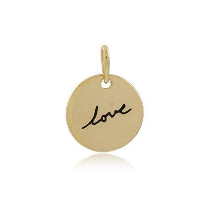Pingente Love Dourado