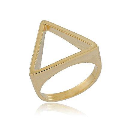 Anel Triangulo Dourado