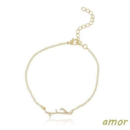 Pulseira Amor / Hob Dourado