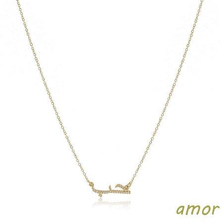 Colar Amor / Hob Dourado