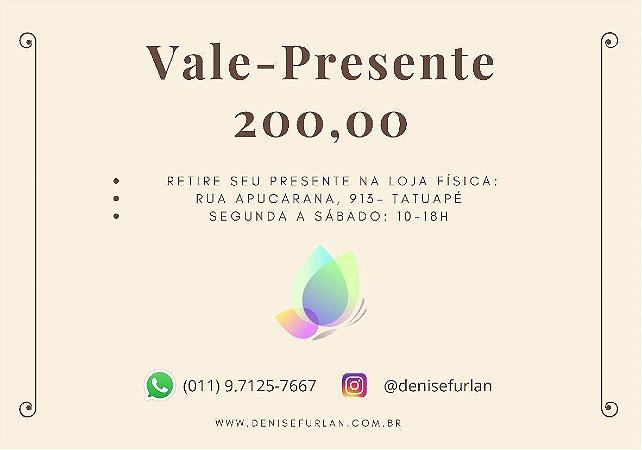 Vale-Presente DF R$ 200,00