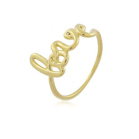 Anel Love Dourado
