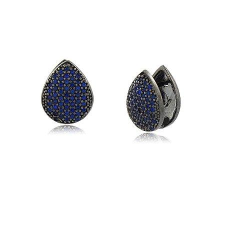 Brinco Denise Furlan Azul Negro