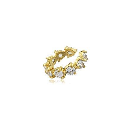 Piercing Fake Penélope Cristal Dourado