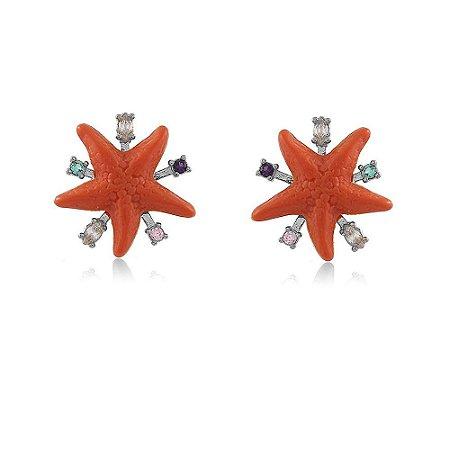 Brinco Estrela do Mar Coral Branco