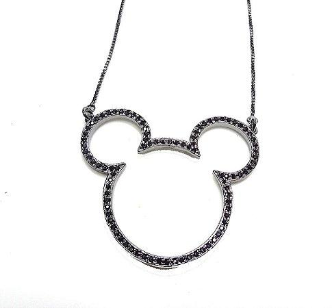 Colar Mickey Negro