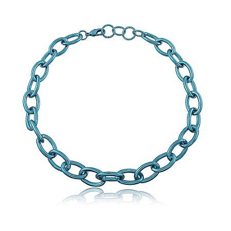 Choker Tauana Azul Metalizado