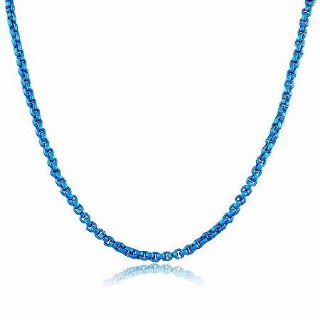 Colar Veneziana Nathy Fosco Azul Bic