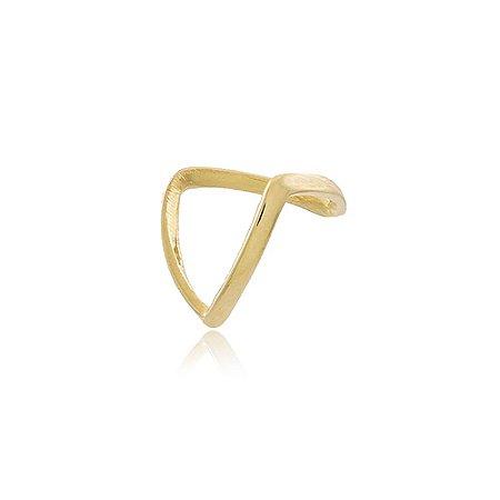 Anel Falange Triangular Dourado