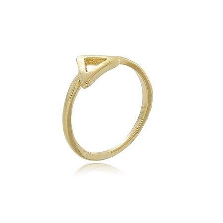 Anel Falange Triângulo Dourado