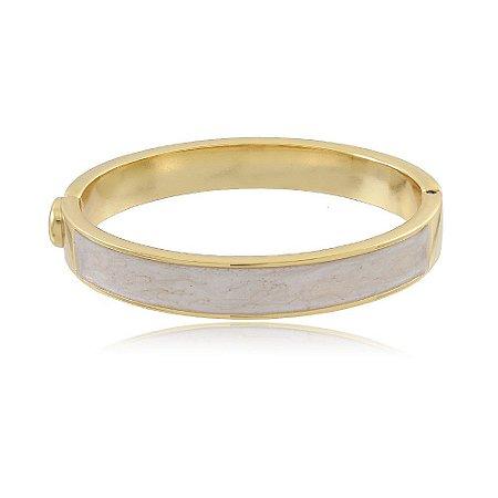 Bracelete Resinado Marfim