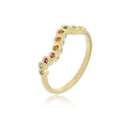 Anel Rita Color Dourado
