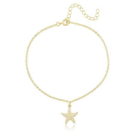 Tornozeleira Estrela Dourado