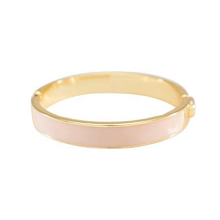 Bracelete Resinado Branco Dourado
