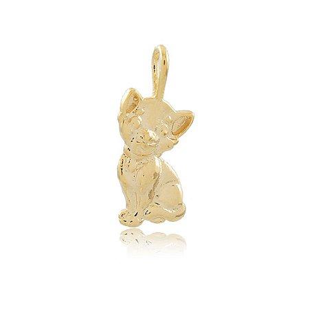 Pingente Gato Dourado