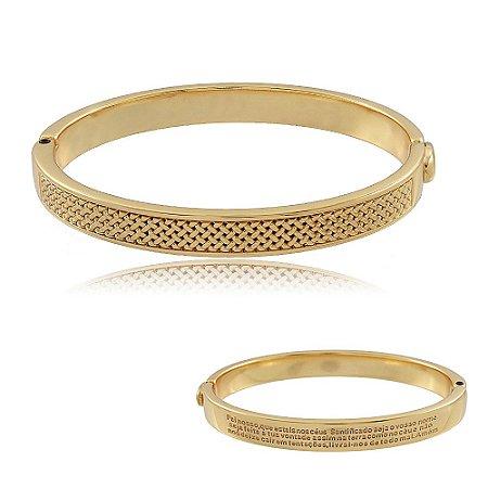 Bracelete Pai Nosso Dourado