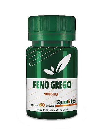 Feno Grego 1000mg - A cápsula sacietogênica com ação antioxidante (60 Cápsulas)