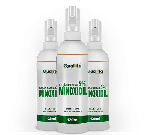 Minoxidil 5% (120 Ml) 3 Unidades