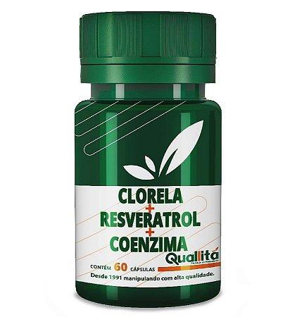 Clorela 500mg + Resveratrol 10mg + Coenzima Q10 50mg - Proteja sua pele (60 Cápsulas)