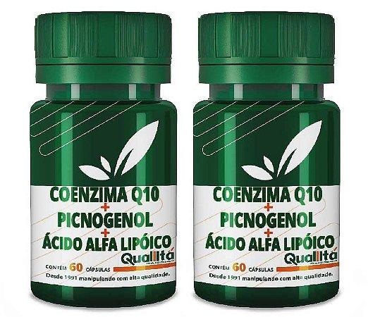 Coenzima Q10 50 mg + Picnogenol 50 mg + Ácido Alfa Lipóico 40 mg - Beleza de dentro para fora (120 Cápsulas)