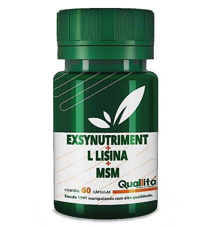 Exsynutriment 150mg + L Lisina 200mg + MSM 300mg (60 Cápsulas)