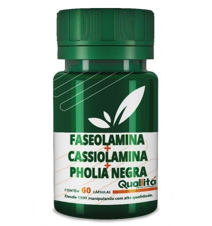Faseolamina 500mg + Cassiolamina 300mg + Pholia Negra 100mg (60 Cápsulas)