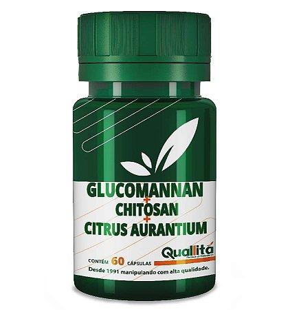 Glucomannan 750mg + Chitosan 250mg + Citrus Aurantium 500mg - (60 Cápsulas)