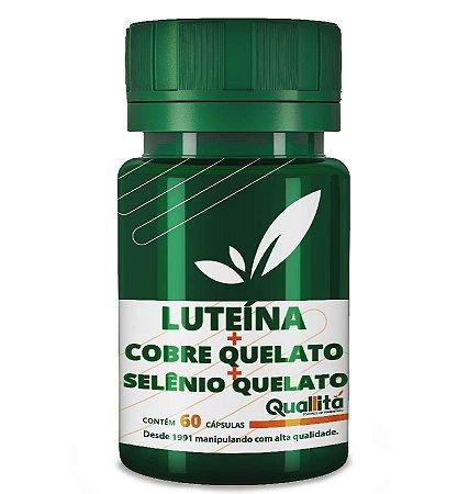 Luteina Po 1mg + Cobre Quelato 1mg + Selenio Quelato 50mcg (60 Cápsulas)