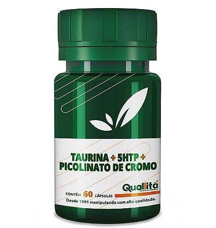 Taurina 300mg, 5 HTP 50mg, Picolinato De Cromo 150mg 60 Cápsulas