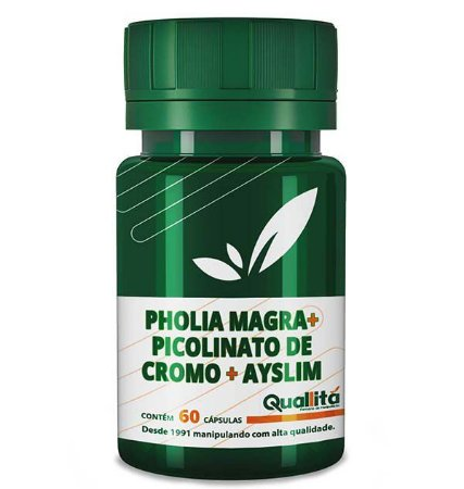 Pholia Magra 250mg, Picolinato De Cromo 150mg, Ayslim 500mg (60 Cápsulas)