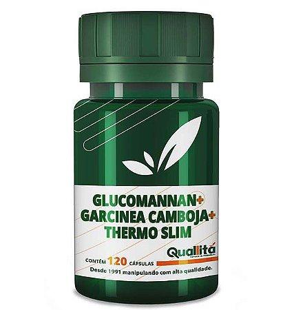 Glucomannan 750mg, Garcinea Camboja 1200mg, Thermo Slim 50mg (120 Cápsulas)