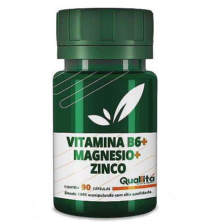 Vitamina B6 3,5mg + Magnesio 150mg + Zinco 10mg (90 Cápsulas)