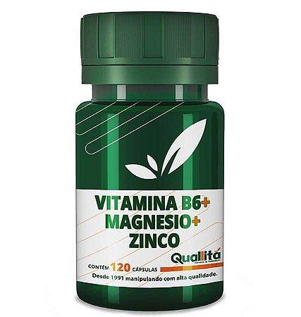 Vitamina B6 3,5mg + Magnesio 150mg + Zinco 10mg (120 Cápsulas)