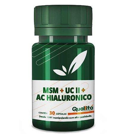 MSM + UC-II +Ácido Hialurônico (30 cápsulas)