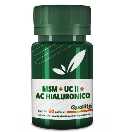 MSM + UC-II +Ácido Hialurônico (60 cápsulas)