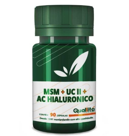 MSM + UC-II +Ácido Hialurônico (90 cápsulas)