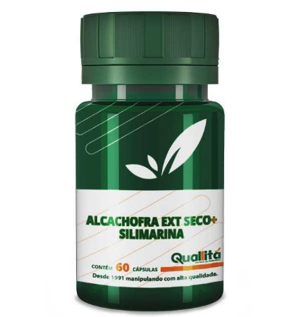 Silimarina 100Mg + Alcachofra (Ext Seco) 200Mg (60 Cápsulas)